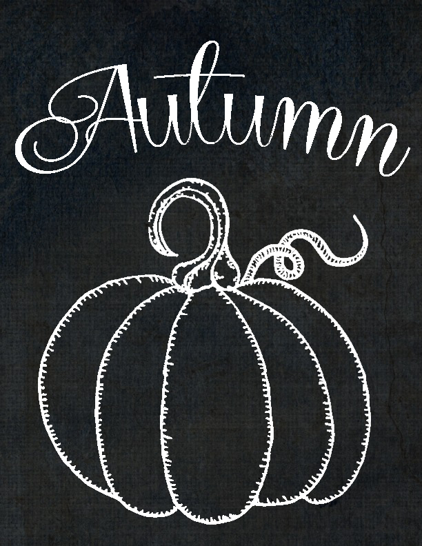 Drawn pumpkin chalk For Domestically Pumpkin Speaking Printables
