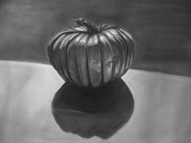 Drawn pumpkin charcoal I Webbing pumpkin Forums the