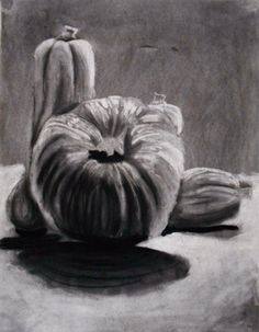 Drawn pumpkin charcoal Still Pinterest free Acorns Pumpkin