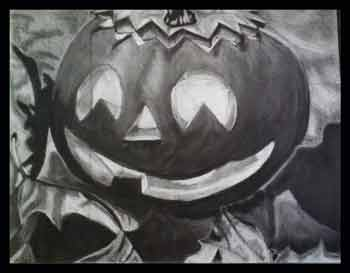 Drawn pumpkin charcoal Charcoal Happy 2011 Season Erin