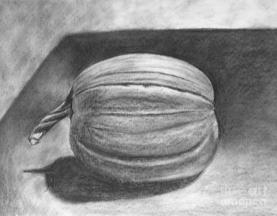 Drawn pumpkin charcoal Pumpkin Meg by Goff Pumpkin
