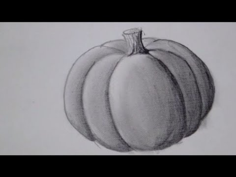 Drawn pumpkin charcoal  Pumpkin Time YouTube Pumpkin