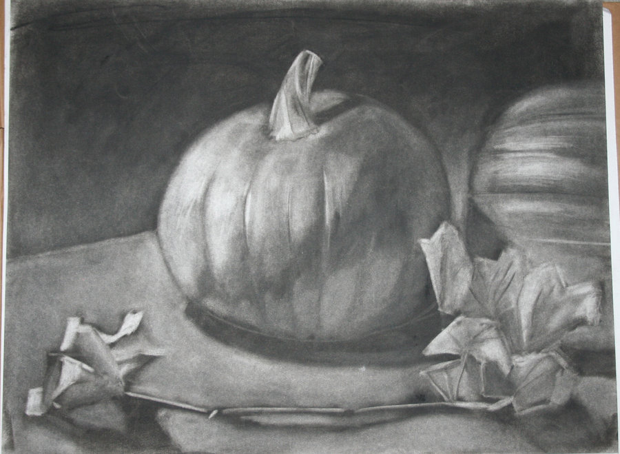 Drawn pumpkin charcoal Charcoal DeviantArt PaulAlanStrange by on