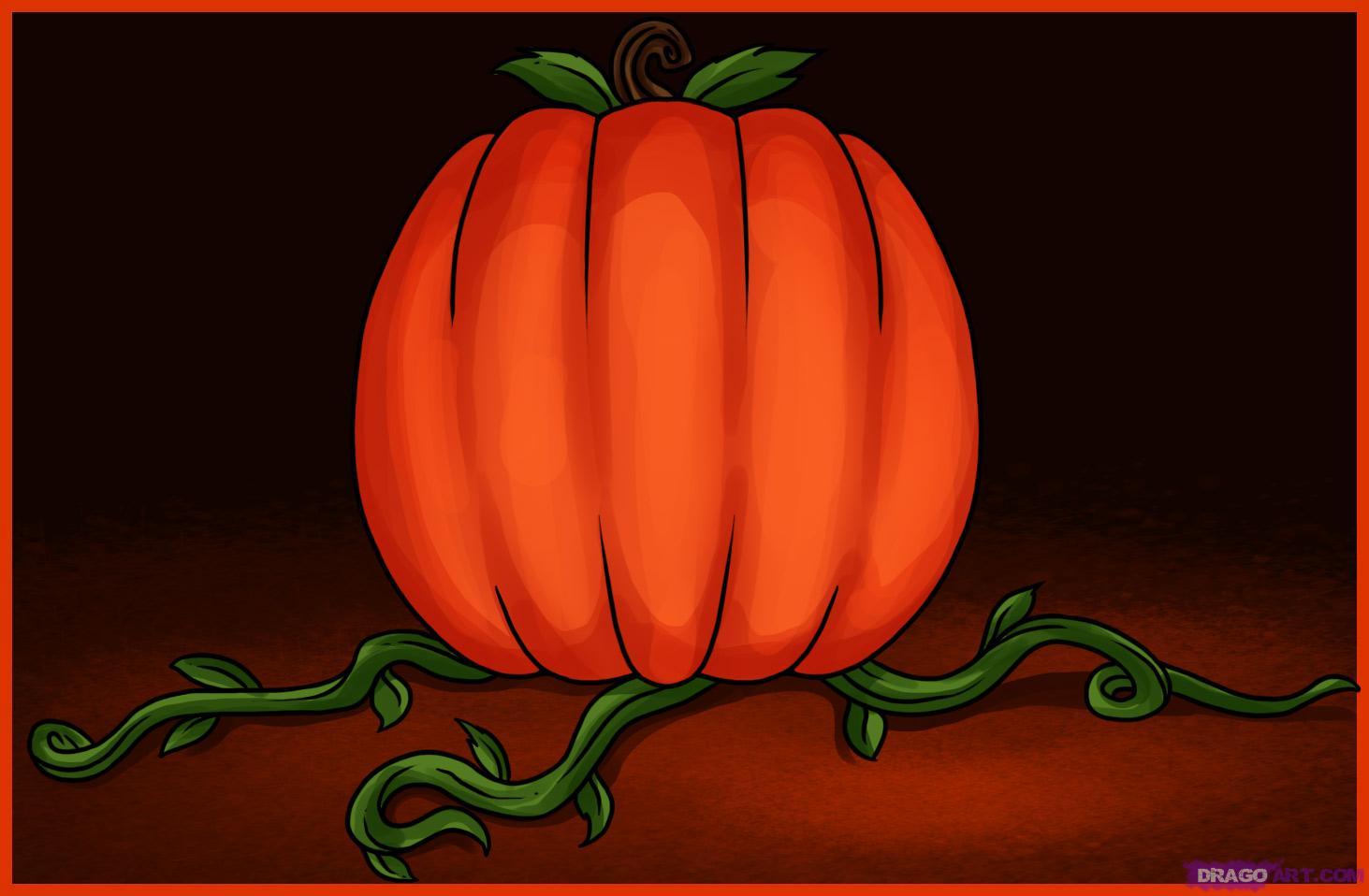 Drawn pumpkin cinderella pumpkin By How Step to draw
