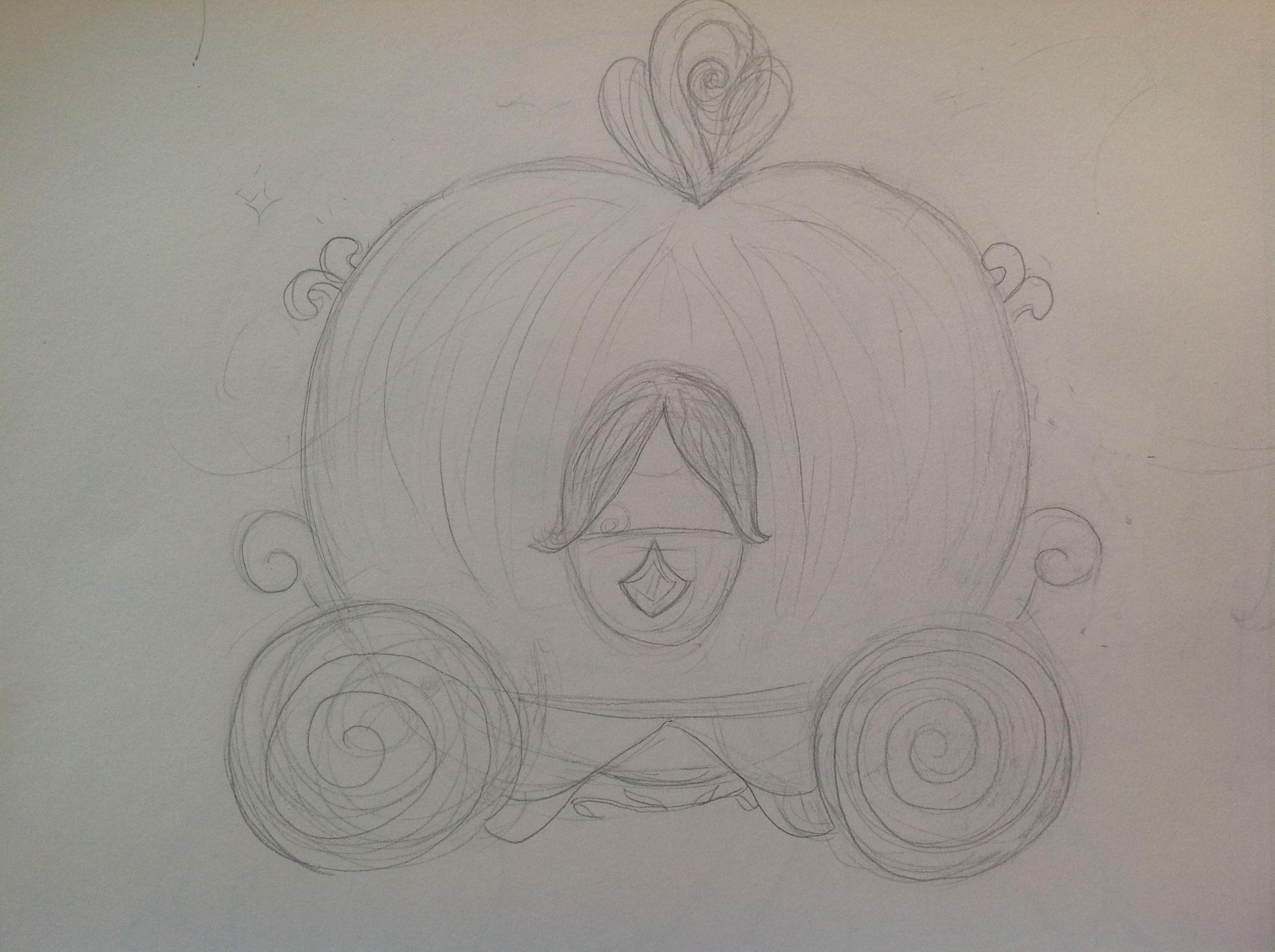 Drawn pumpkin cinderella pumpkin Drawing © Gallery Pumpkin Carriage