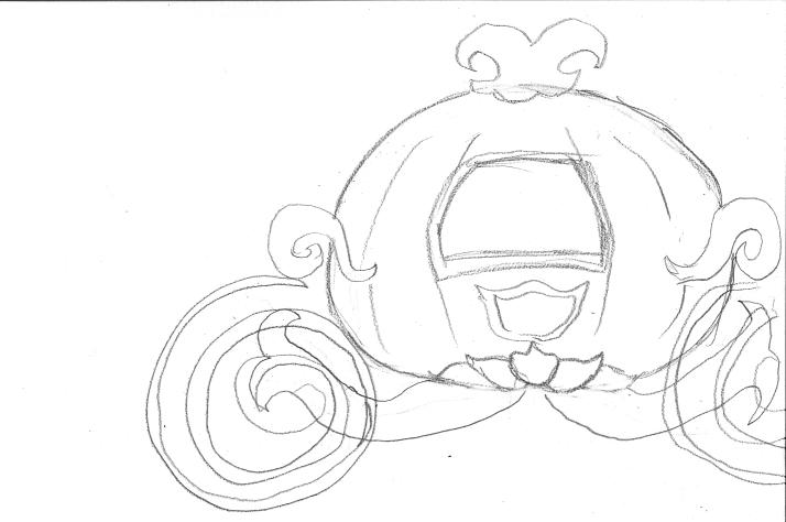 Drawn pumpkin cinderella pumpkin Pumpkin classes Carriage Carriage Cinderella
