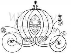 Drawn pumpkin cinderella pumpkin  Cinderella carriage outline Search
