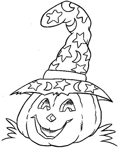 Drawn pumpkin color To #Pumpkin the decoration Halloween