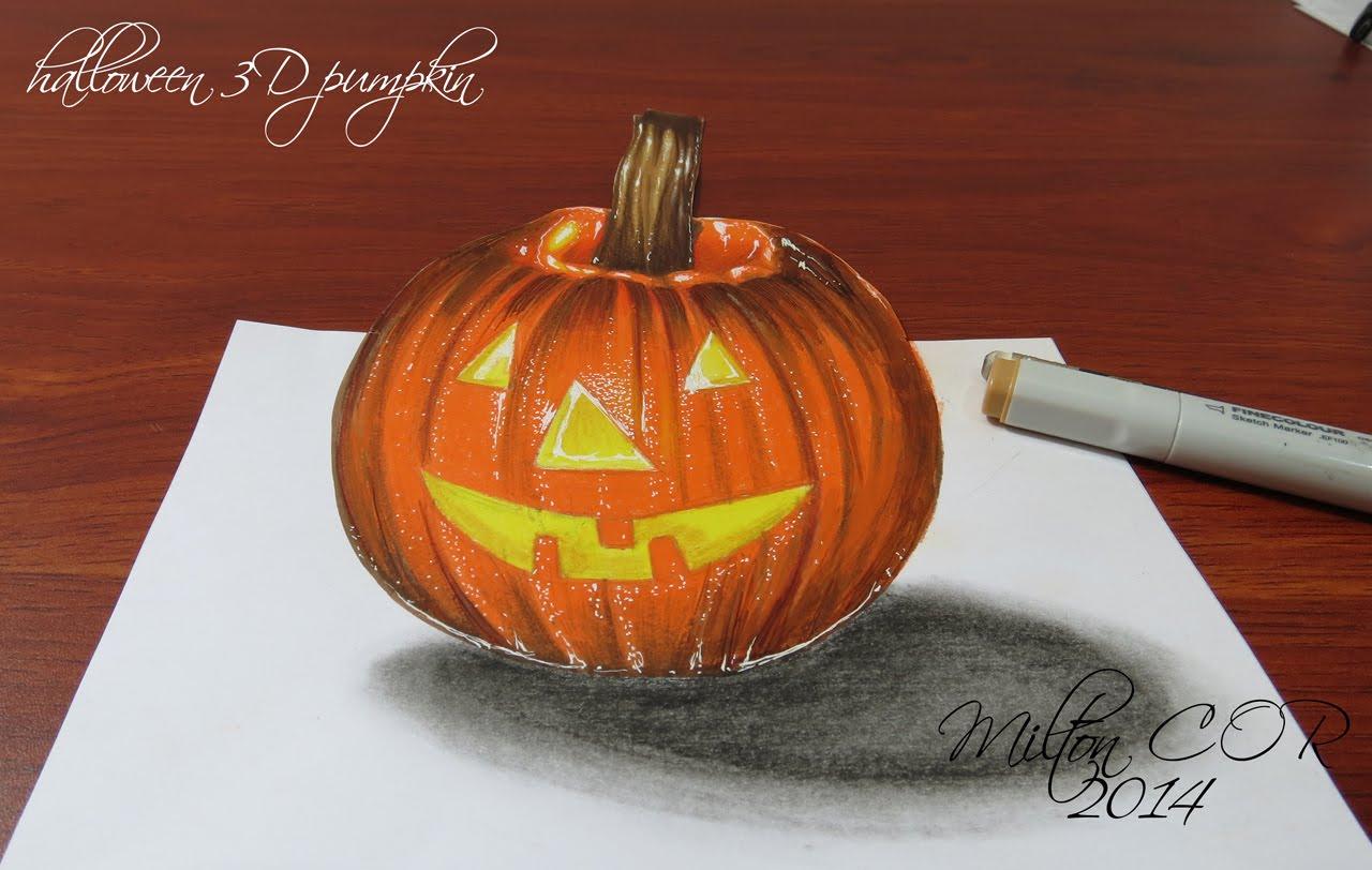Drawn pumpkin color A Draw Pumpkin Draw Halloween