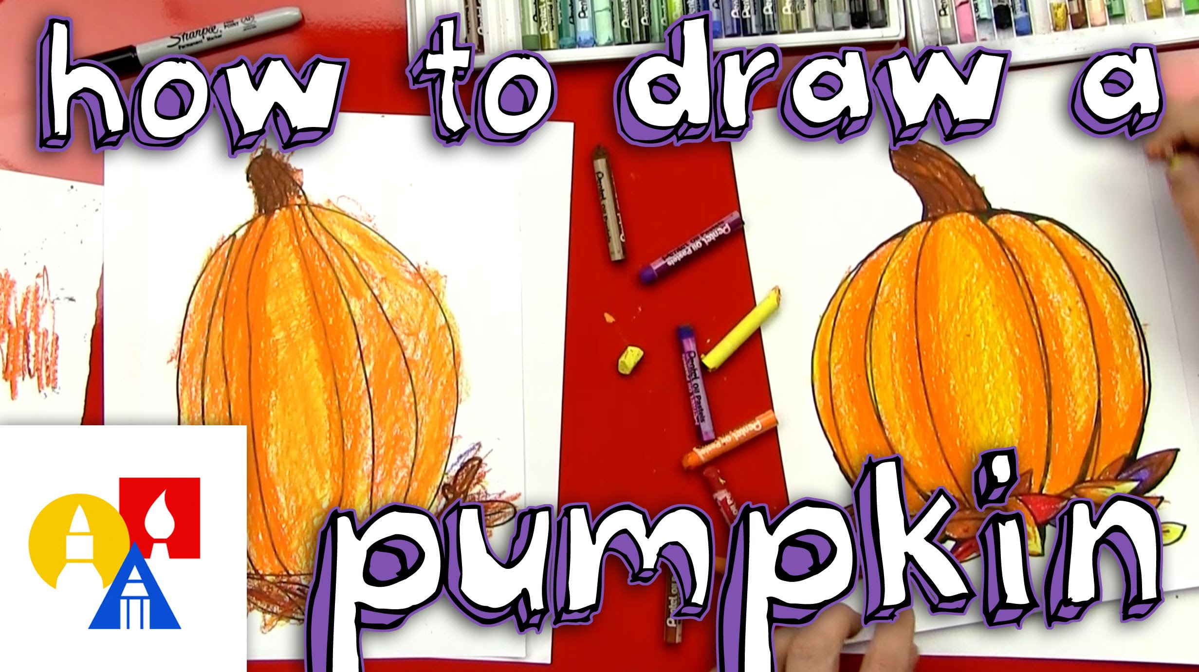 Drawn pumpkin color Draw To And YouTube How