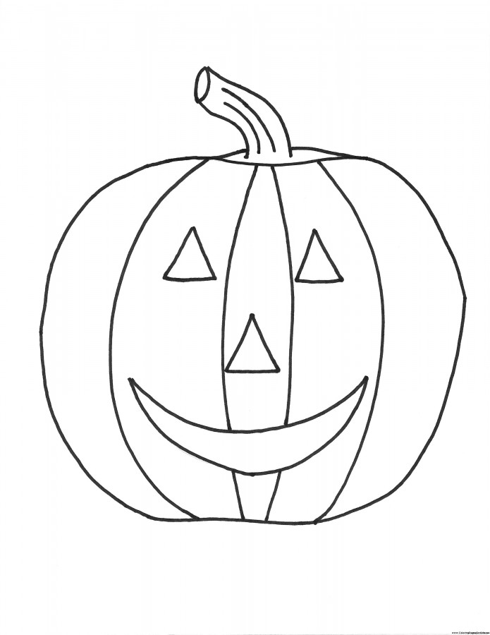 Drawn pumpkin color for kid Pumpkins Free Printable Printable Pumpkins