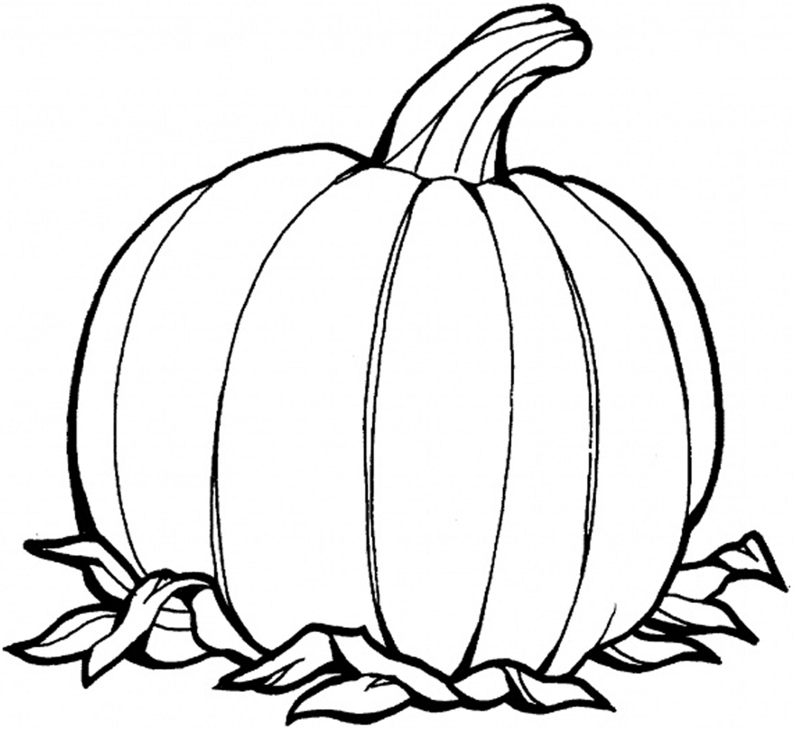 Drawn pumpkin color for kid Ideas Color Pumpkin Pages Kids