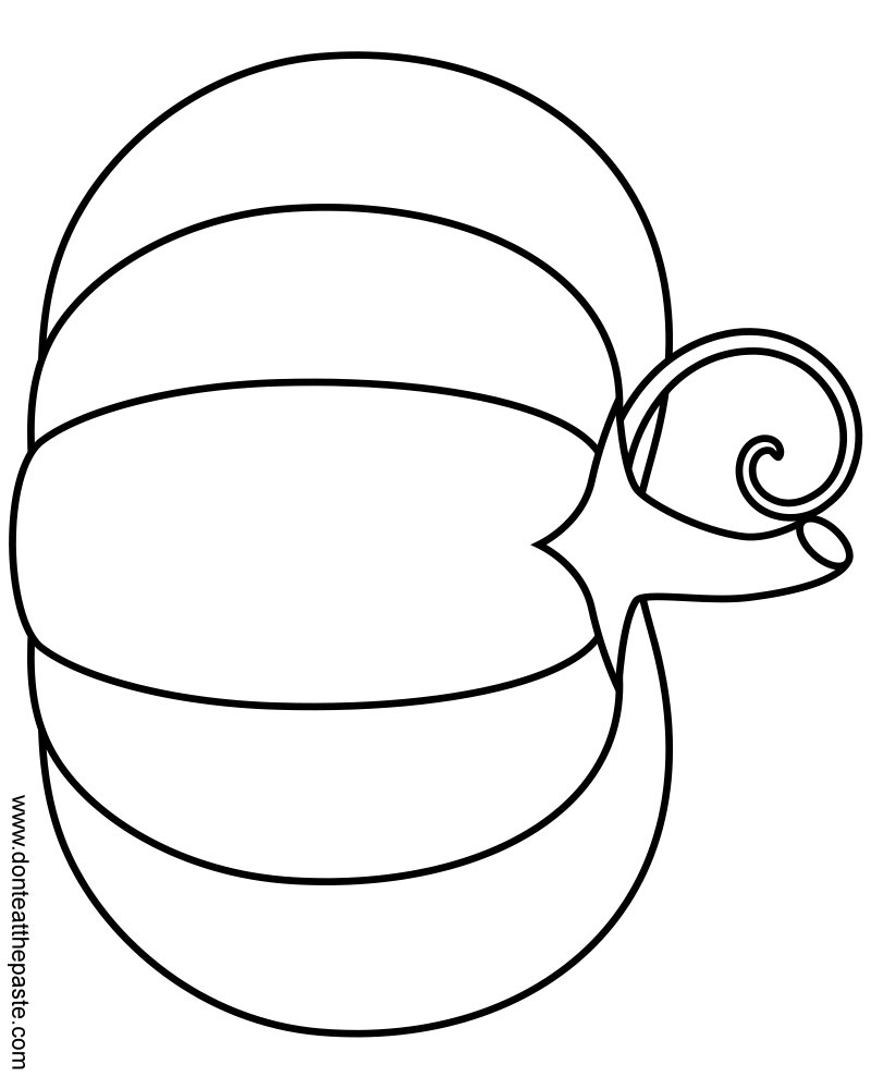 Drawn pumpkin leaf Coloring by and format PNG