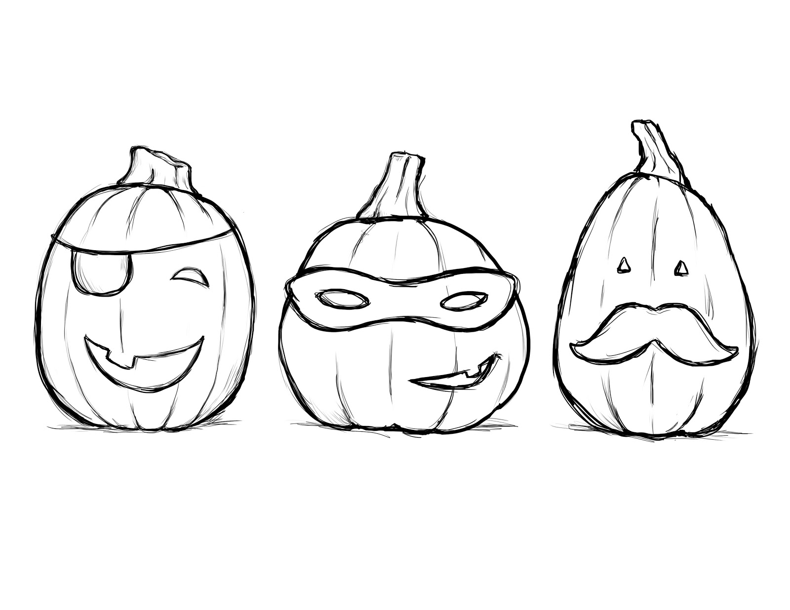 Drawn pumpkin coloring page halloween Albitrefamilylove Coloring Of com Pages