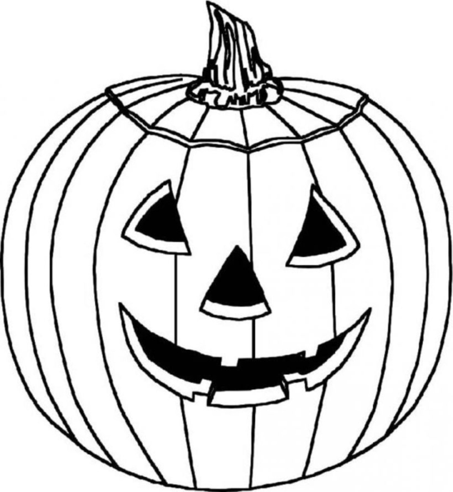 Drawn pumpkin coloring page halloween For halloween pumpkin Coloring Pages