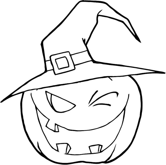 Drawn pumpkin coloring page halloween Coloring Festival Collections Halloween Coloring