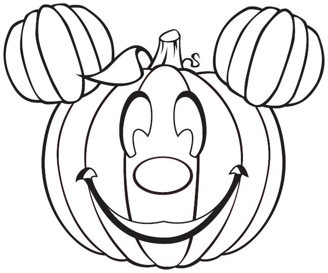 Drawn pumpkin coloring page halloween Coloring Disney halloween Disney Coloring
