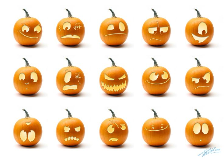 Drawn pumpkin creepy Best Amateur Scary Faces the
