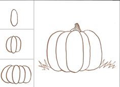 Drawn pumpkin easy Pumpkin Art for Tutorial ideas