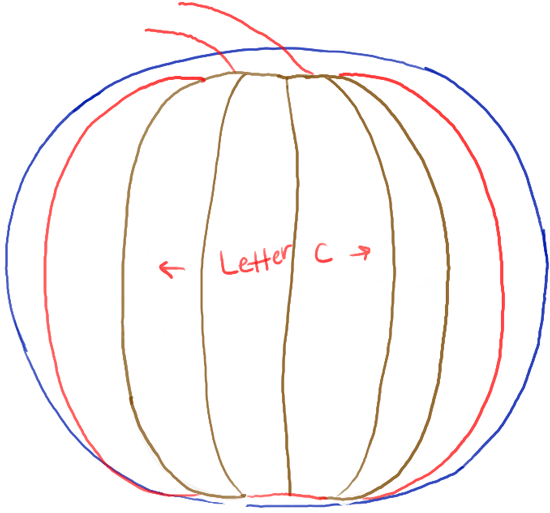 Drawn pumpkin easy Easy for 2 of stem
