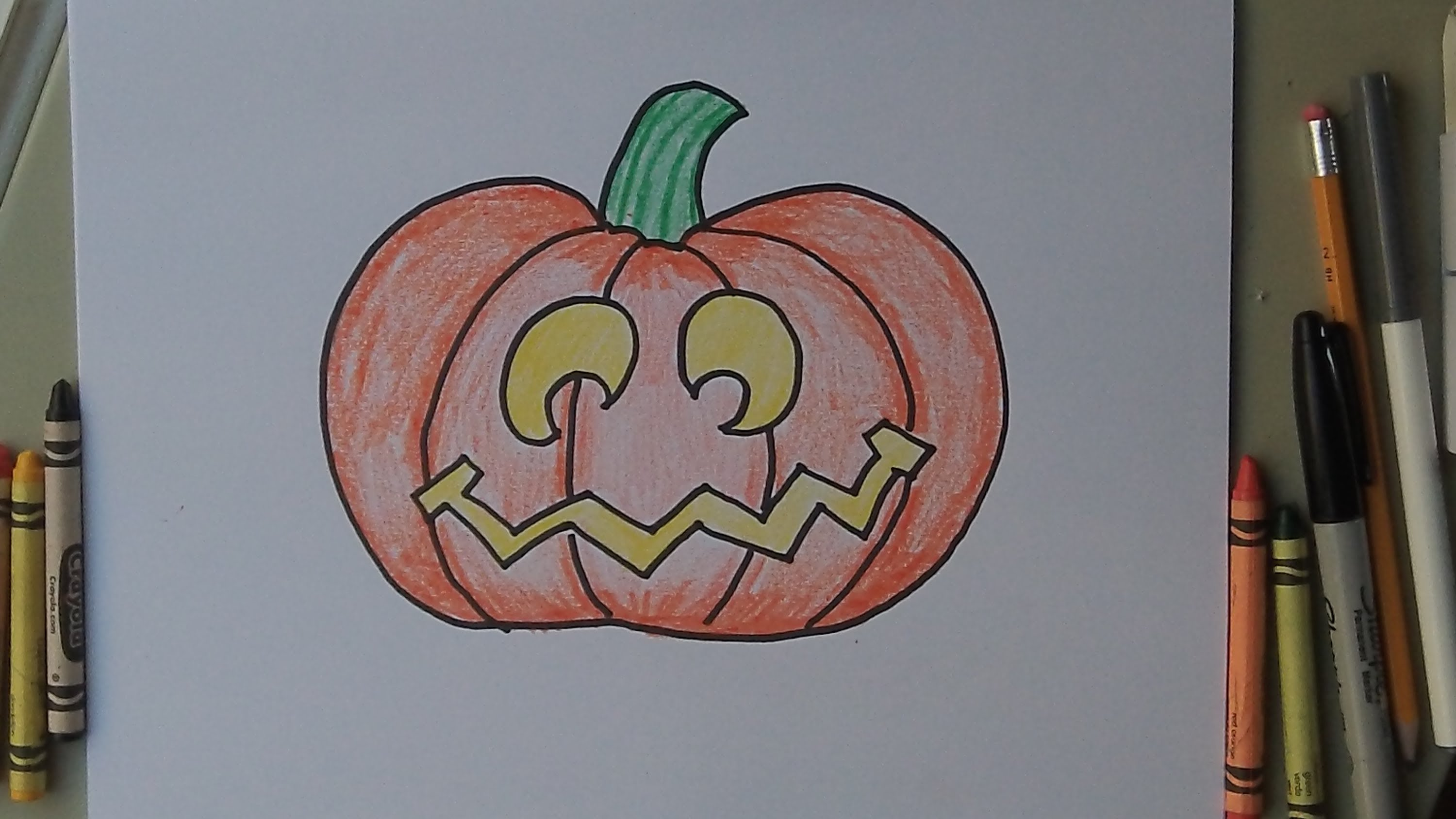 Drawn pumpkin easy A By To for lantern
