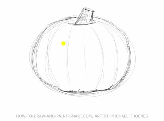 Drawn pumpkin easy To Title Halloween Draw Pumpkins