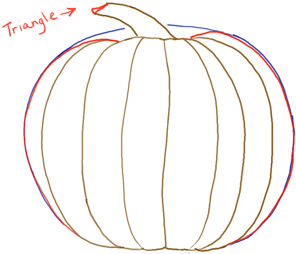 Drawn pumpkin easy Easy pumpkin for by