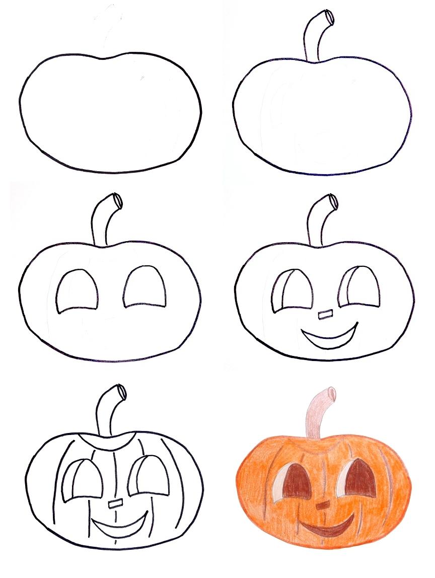 Drawn pumpkin fun halloween Pumpkin Halloween How Pippi's kids