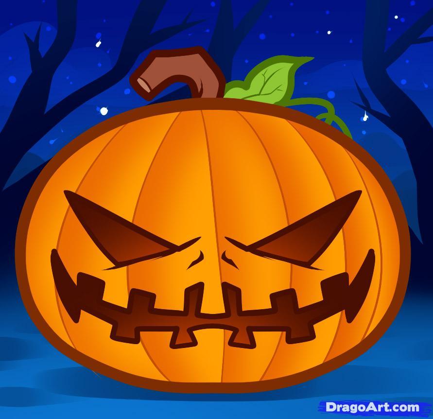 Drawn pumpkin fun halloween Halloween Step halloween pumpkin how