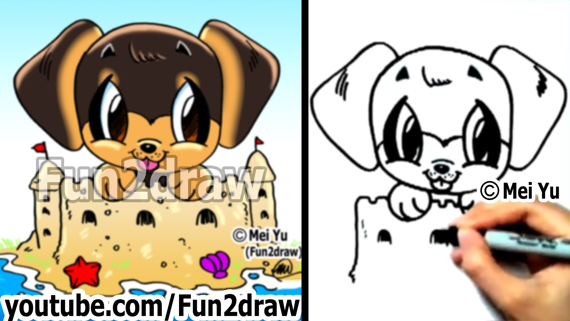 Drawn puppy fun2draw Fun2draw YouTube Rottweiler for Dog