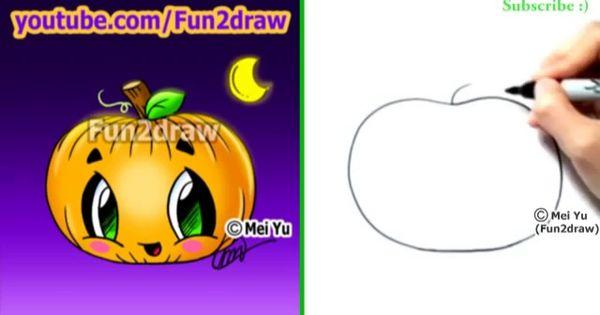 Drawn pumpkin fun2draw Cartoon Draw to a Pumpkin