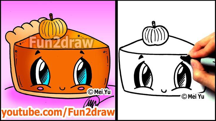 Drawn strawberry fun2draw Pumpkin Cute Things Pinterest Thanksgiving