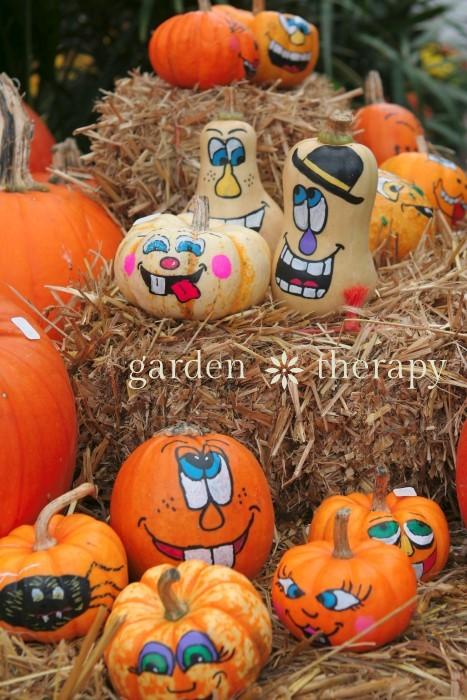 Drawn pumpkin funny Kids Painted for  Pumpkins: