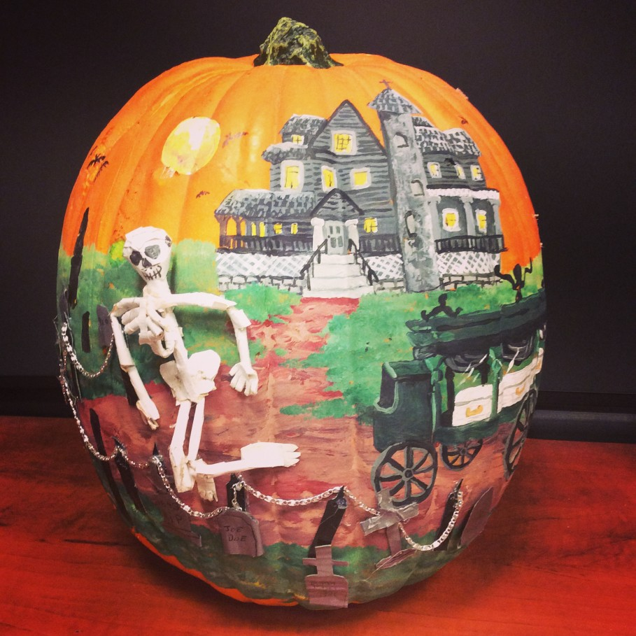 Drawn pumpkin funny  Funny Cheer Castle decoration: