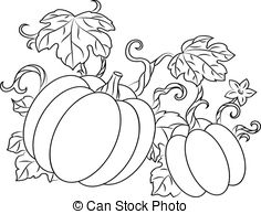 Drawn pumpkin gourd Royalty 212 style  retro