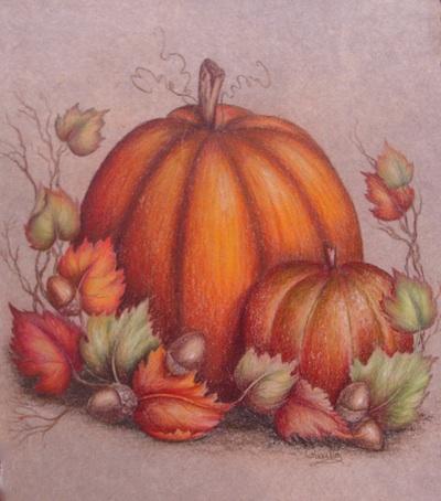 Drawn pumpkin gourd Pencil Fall Gourd Gourd Fall