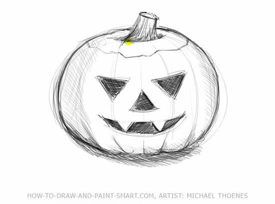 Drawn pumpkin halloween art 5 Step Pumpkins Halloween to
