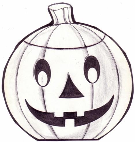 Drawn pumpkin halloween decoration (11)  Drawing Halloween Halloween