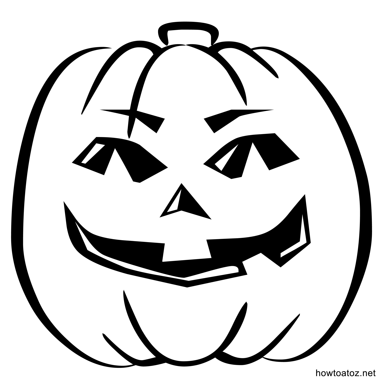 Drawn pumpkin halloween decoration Templates Halloween – Stencils decoration