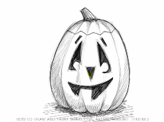 Drawn pumpkin happy jack A Happy O to Lantern