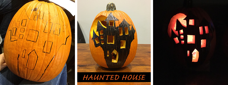 Drawn pumpkin marker A Gardens Haunted Inspired colored