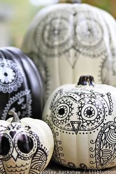 Drawn pumpkin marker Idea pumpkin carving A Skull