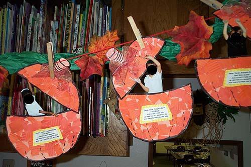 Drawn pumpkin nursery class Peter Eater! Bulletin Pumpkin Nursery