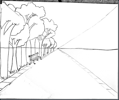 Drawn pumpkin nursery class SmART Steps Perspective Drawing for