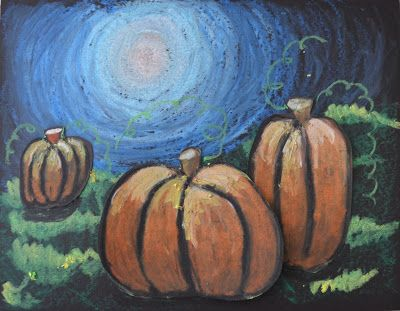 Drawn pumpkin october Art on Moonlit October 117