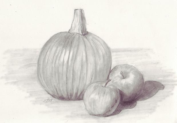 Drawn pumpkin pencil Drawing Still Drawing Life Still