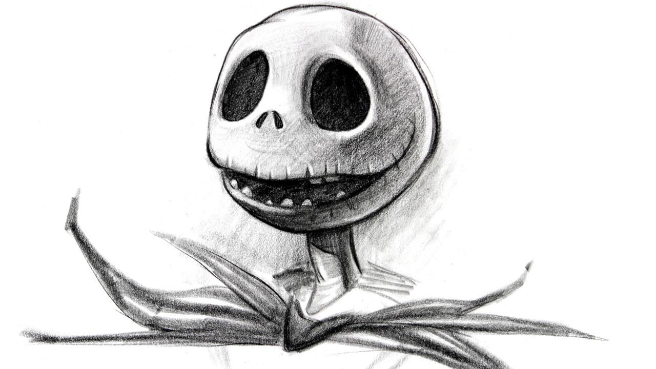 Drawn pumpkin pencil – Jack  Skellington Special