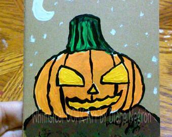 Drawn pumpkin plain Sketchbook moleskin greeting pumpkin Owl
