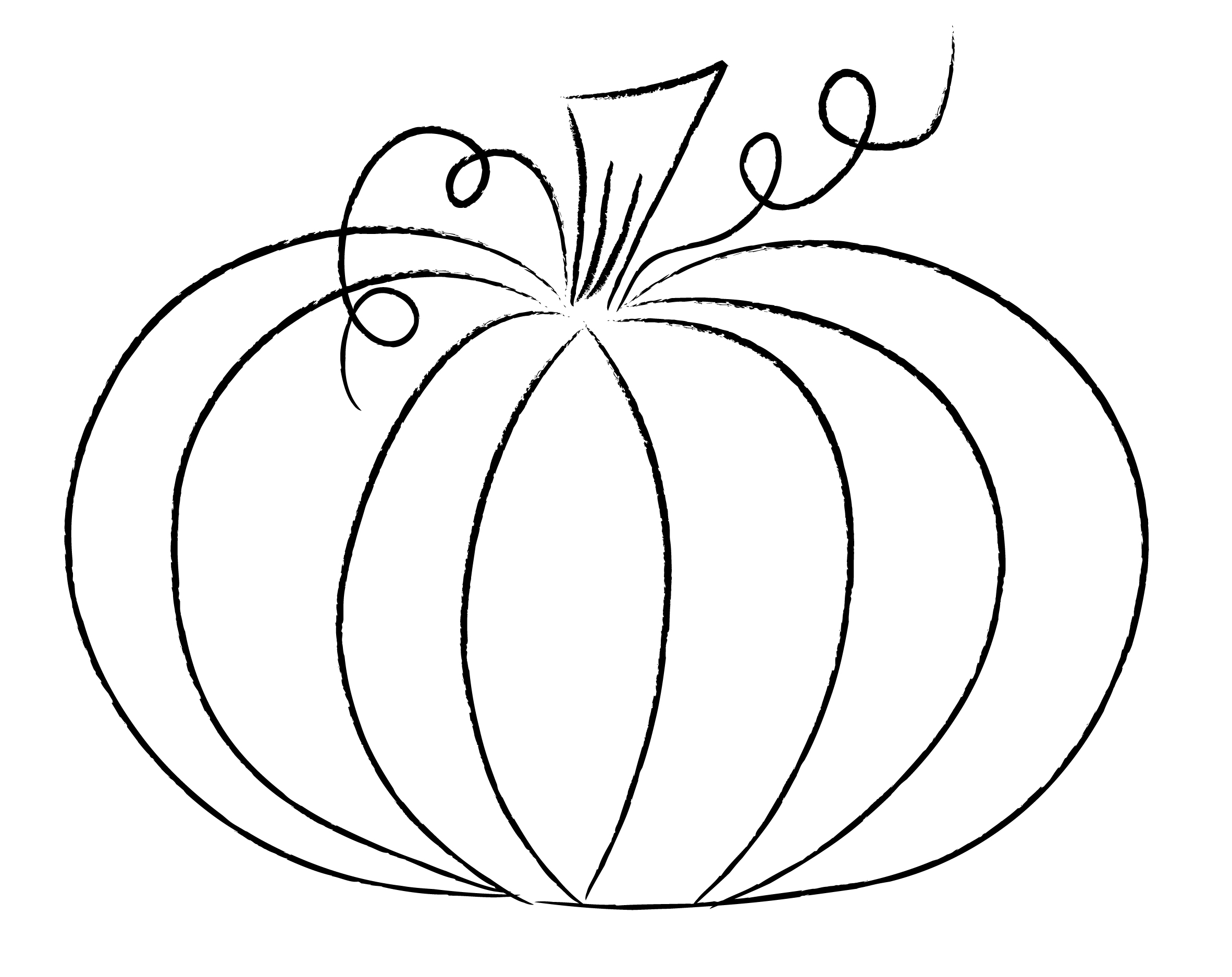 Drawn pumpkin printable Printable Outline Wreath Pumpkin Outline