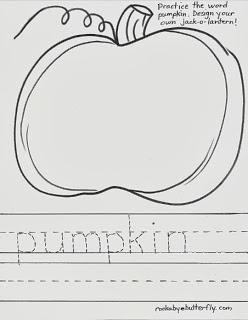 Drawn pumpkin printable Rockabye October A Butterfly: Pumpkin